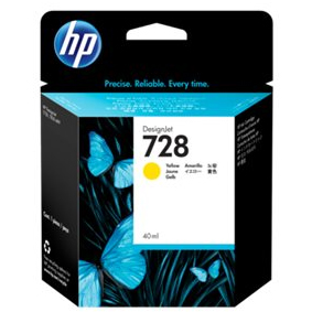 F9J61A Cartuccia HP 728 Giallo 40ml