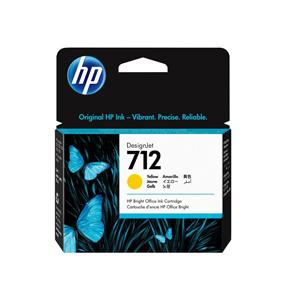 3ED69A Cartuccia HP 712 Giallo 29 ml