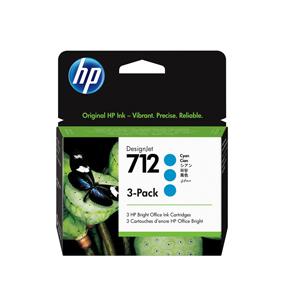 3ED77A Cartuccia HP 712 3-pack Ciano 29 ml